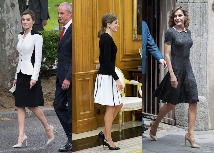 Letizia di Spagna scarpe abiti maggio giugno 2016