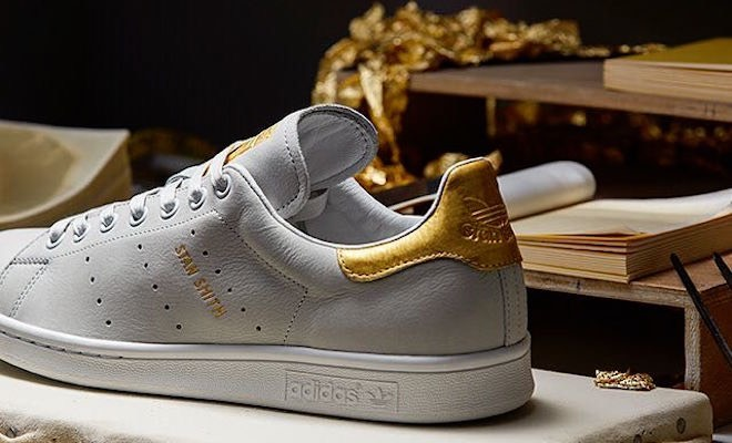 adidas stan smith bianca oro