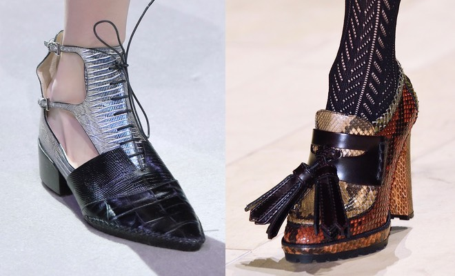 scarpe Burberry Dior inverno 2017