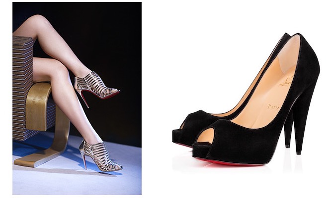 louboutin scarpe nere