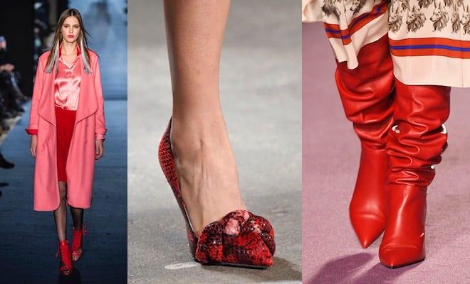 Scarpe rosse vestiti inverno 2017