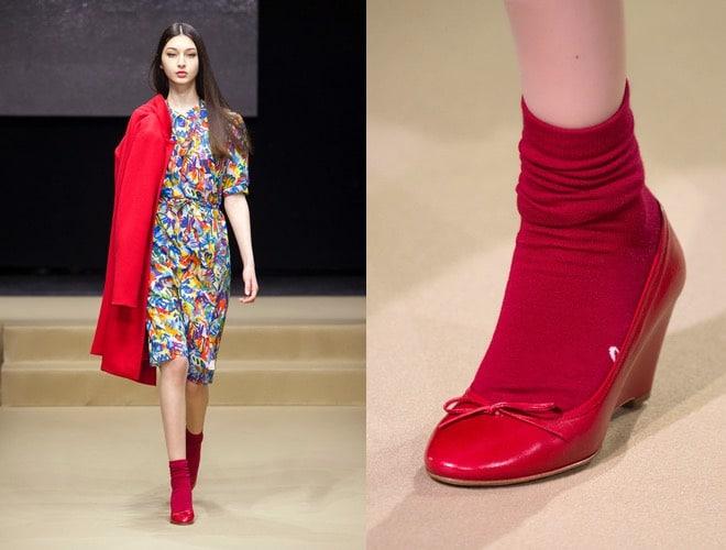 scarpe rosse abito inverno 2016