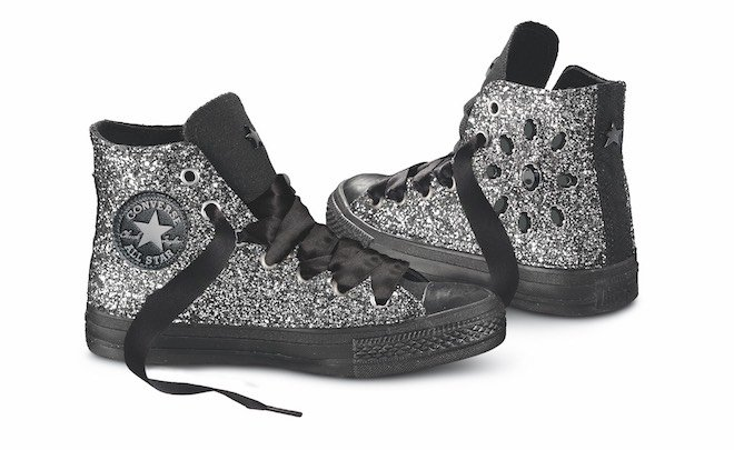scarpe donna all star converse alte glitter