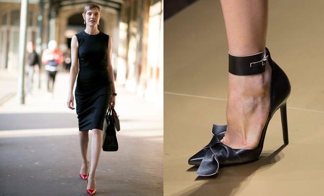 Scarpe sotto abito nero