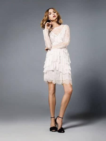check out 3e2ea 5c37b Vestito pizzo bianco scarpe – Vestiti da cerimonia