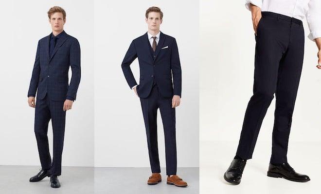 finest selection ab11e da9d0 Abito da uomo blu: meglio scarpe marroni o nere? Gli ...