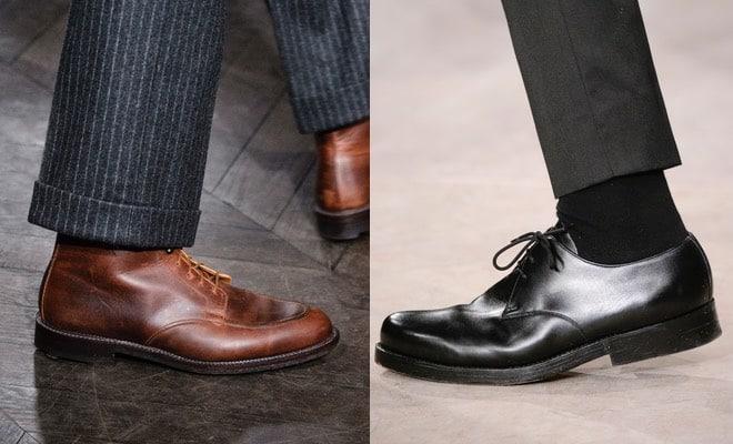 scarpe-marroni-nere-pantaloni-grigi-outfit