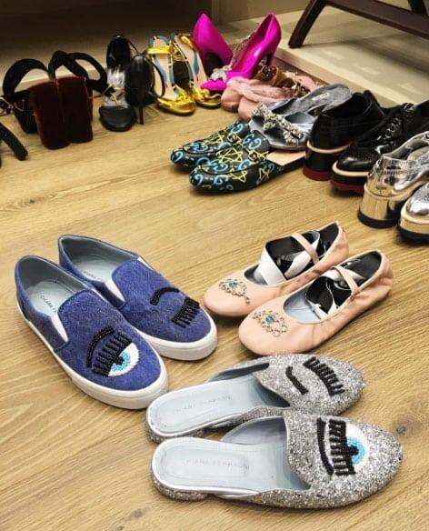 Le scarpe di Chiara Ferragni. Foto - Scarpe Alte - Scarpe basse e7091c8b88b