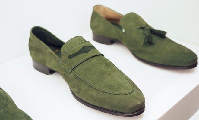castori mocassini verdi