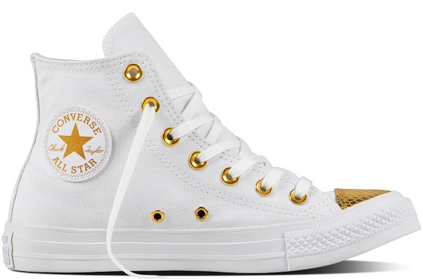 converse all star alte donna oro