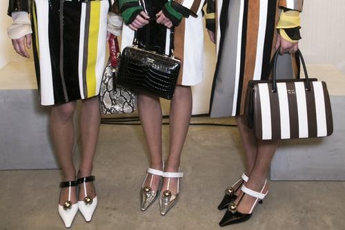 Prada scarpe donna backstage