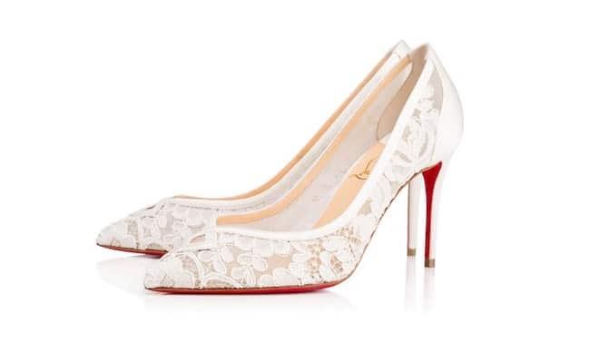 Scarpe Pizzo Sposa.La Collezione Sposa Louboutin 2017 Prezzi E Modelli Scarpe Alte