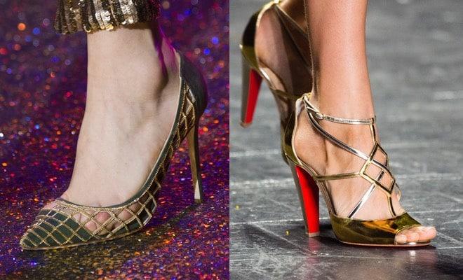 Scarpe e sandali oro ideali per cerimonie. Ecco un po  di esempi dal meglio  delle collezioni 2017 67dd2dedea9