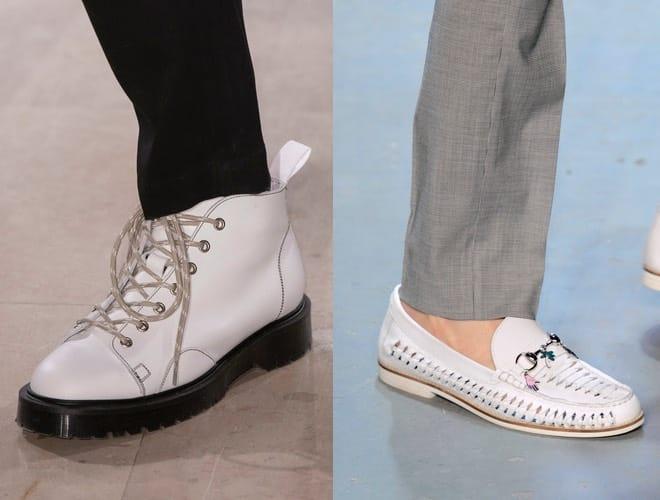 calzature bianche moda uomo giovane abbinamenti