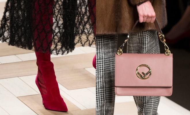 8d84eb8558202 Cuissard e scarpe rosse e una nuova collezione di borse a mano e tracolla  per l autunno inverno 2017-2018. Le ultime novità di Fendi donna. Tutte le  foto.