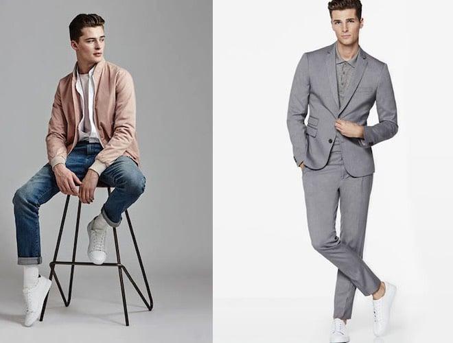 moda ragazzo scarpe bianche vestiti