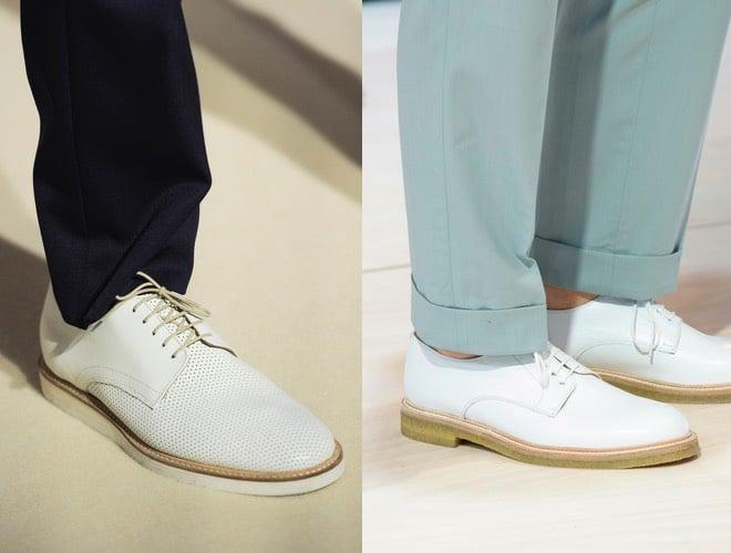 stringate uomo bianche pantaloni chiari