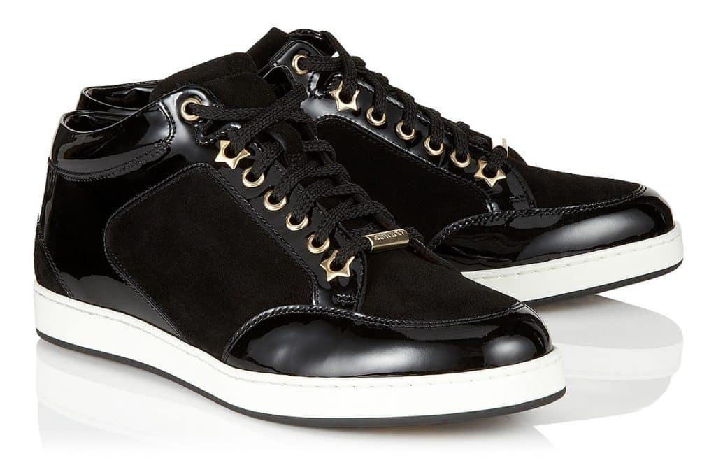 Jimmy Choo Miami. Sneakers scamosciata di colore nero. Prezzo  375 euro 99563f7feb1
