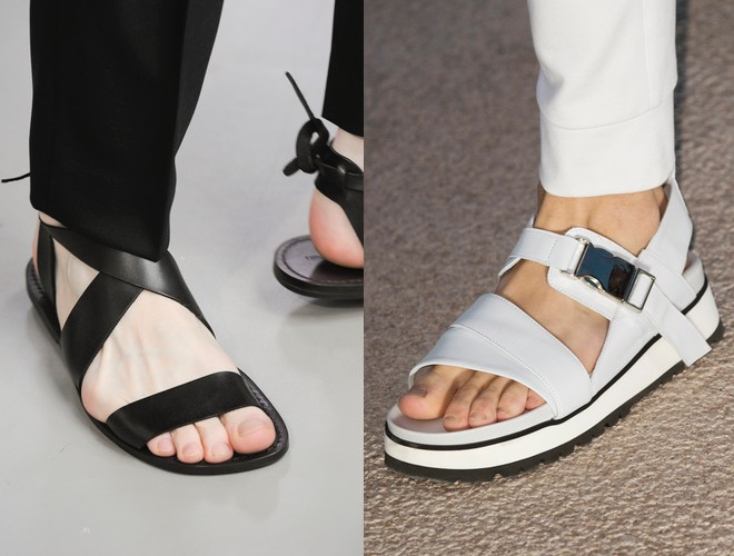 Sandali uomo estate neri - bianchi