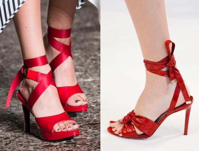 Smalto piedi estate scarpe rosse