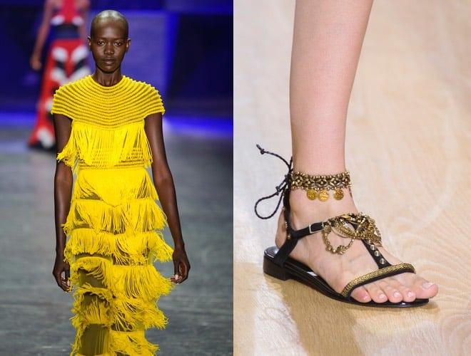 abito cerimonia giallo lungo-sandali