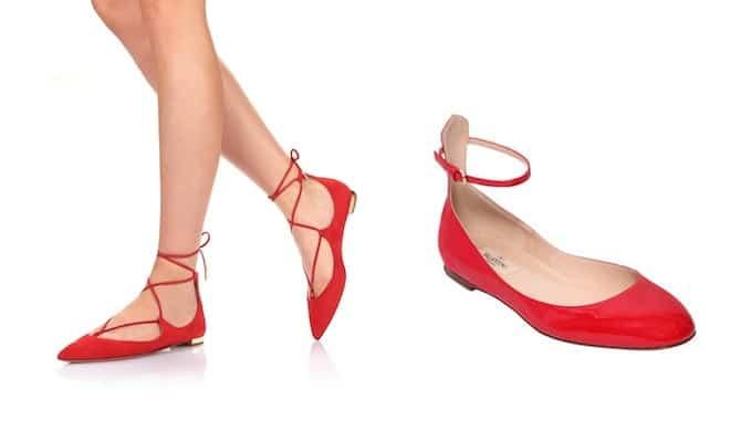 a basso prezzo 55c23 7d7a4 10 ballerine rosse per l'estate. Foto e prezzi - Scarpe Alte ...