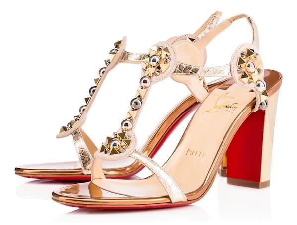 louboutin sandals oro
