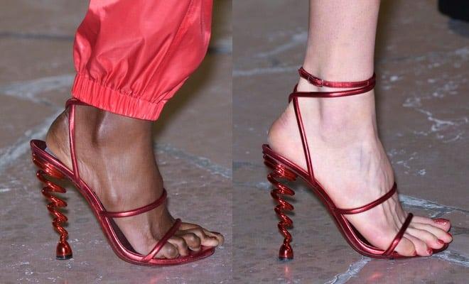 sandali rossi Kenzo estate 2017