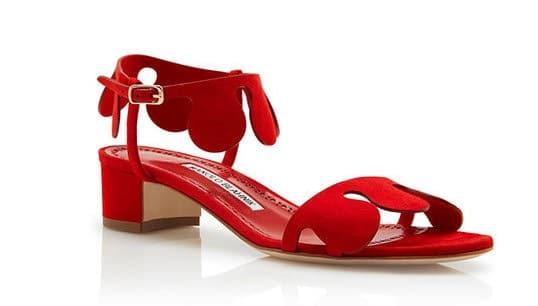 sandalo rosso donnna manolo blahnik