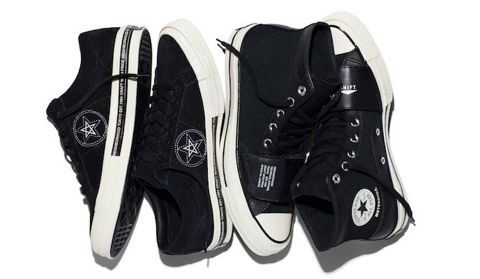 Converse nere in pelle primavera estate 2017