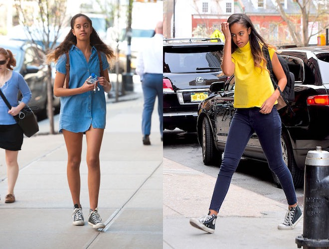 Malia Obama scarpe Converse