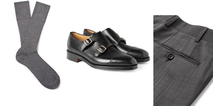abbinamenti calze pantaloni grigi uomo
