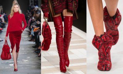 scarpe donna inverno 2018 rosse