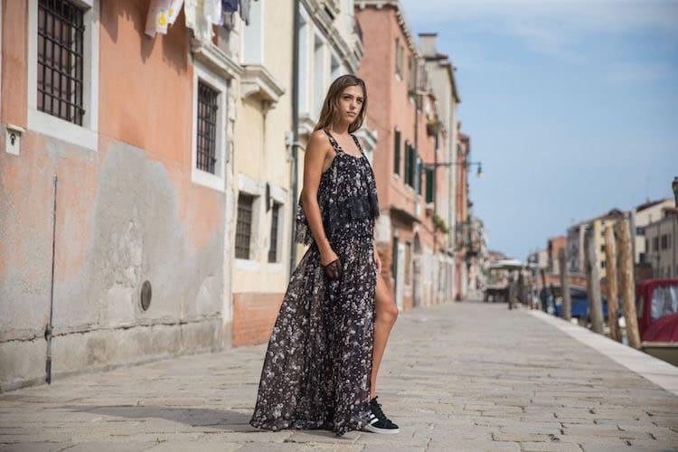 twin set abito donna lungo 2017