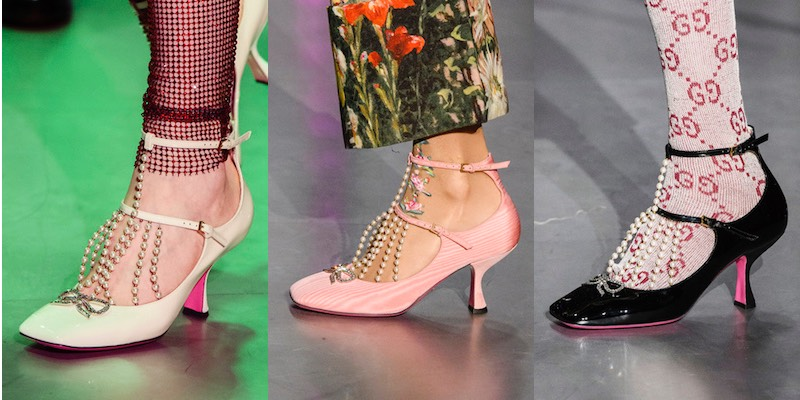 Gucci catalogo scarpe donne inverno 2017-2018