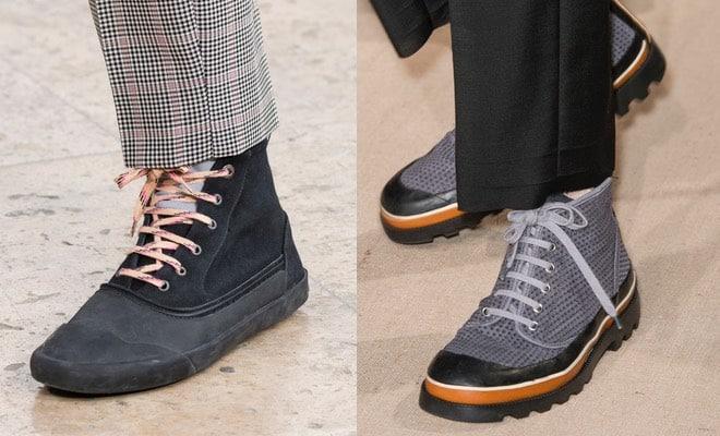 Scarpe alte uomo per l'estate: sneakers, polacchini e
