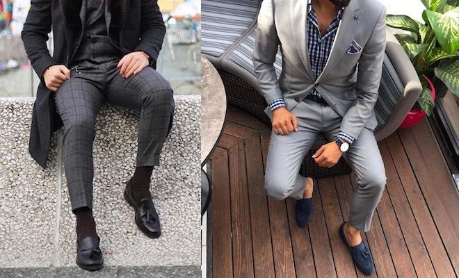 mocassini abbinameti moda uomo