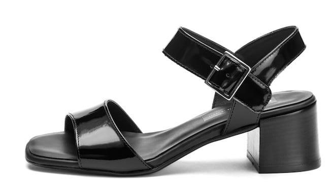 frau sandali tacco basso neri donne estate 2017