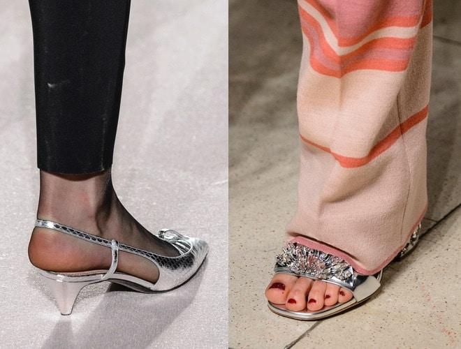 scarpe argentate invernali-moda 2018