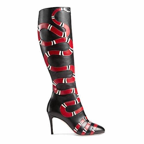 Gucci Stivale-in-pelle-al-ginocchio-con-dettaglio-serpente