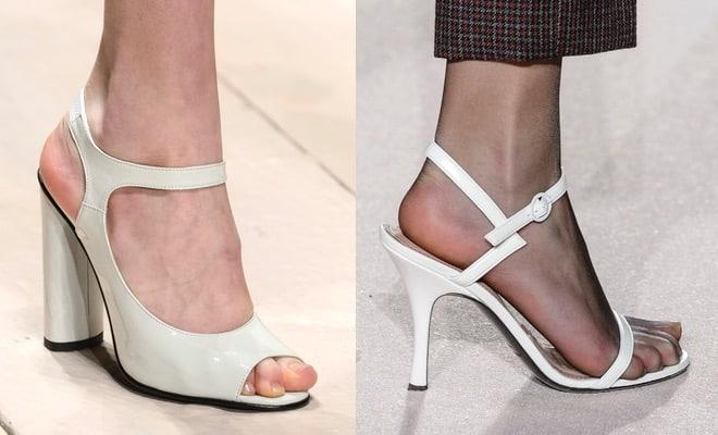 Sandali bianchi inverno 2017