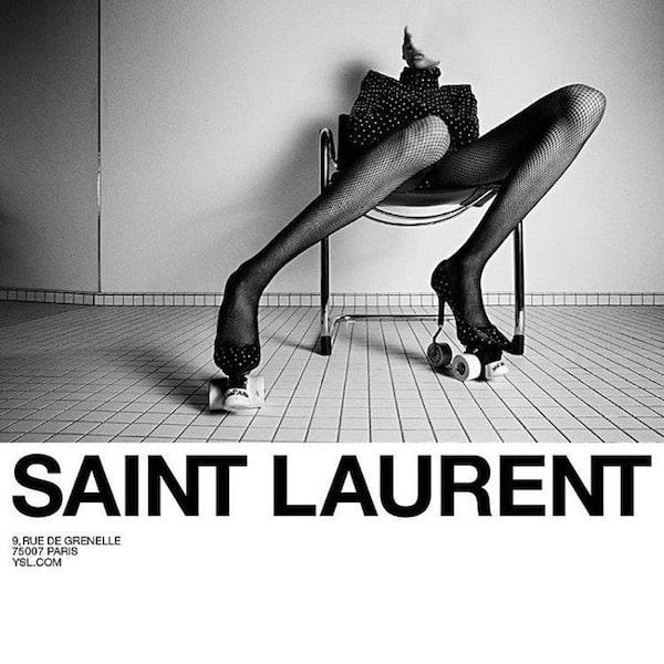 Yves Saint Laurent scarpe inverno 2018 ruote campagna