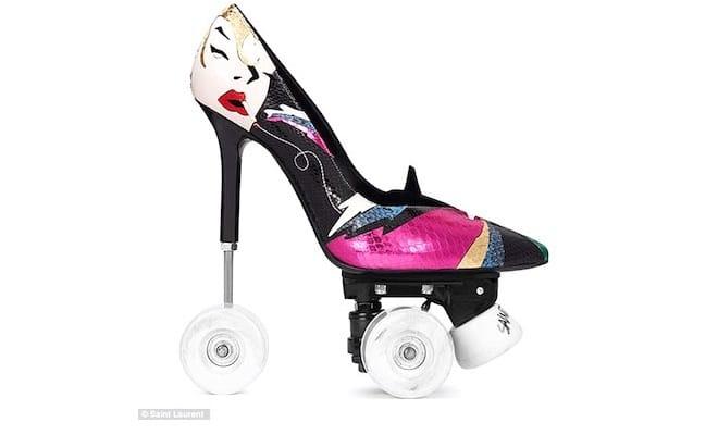 saint laurent scarpe donna tacco ruote