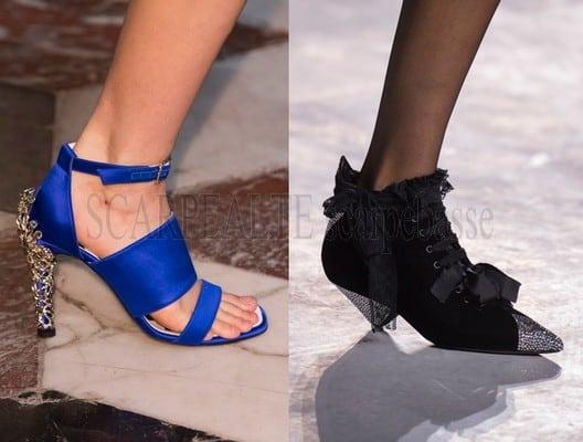 Scarpe moda parigi primavera estate 2018