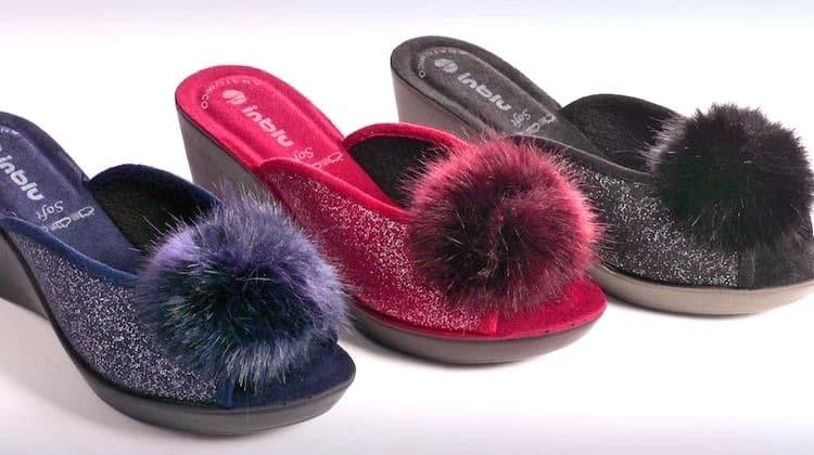 vendita calda online 4a872 7440e Pantofole invernali Inblu Donna 2017-2018 Nuovi modelli foto ...