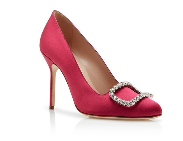 Manolo Blahnik scarpe sposa rosse 2018