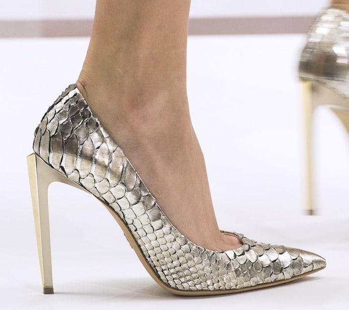 Ralph e Russo scarpe platino 2018