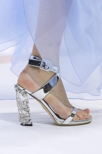 Ralph e Russo sandali argento