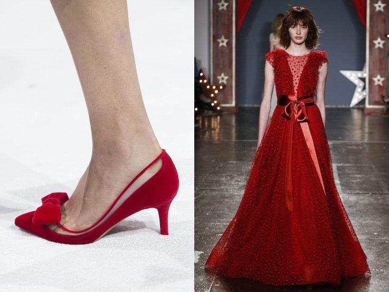 Scarpe rosse abito sposa rosso 2018