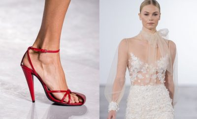 Scarpe rosse da cerimonia sposa